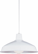 Seagull 651991S-15 Painted Shade Pendants Contemporary White LED Drop Ceiling Lighting
