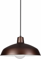 Seagull 651991S-63 Painted Shade Pendants Contemporary Antique Brushed Copper LED Ceiling Pendant Light