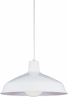 Seagull 6519EN-15 Painted Shade Modern White LED Ceiling Light Pendant
