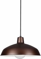 Seagull 6519EN-63 Painted Shade Modern Antique Brushed Copper LED Drop Ceiling Light Fixture