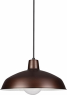 Seagull 6519EN3-63 Painted Shade Pendants Contemporary Antique Brushed Copper LED Lighting Pendant