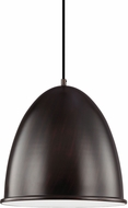 Seagull 6525491S-710 Hudson Street Contemporary Burnt Sienna LED 18.25  Hanging Pendant Light