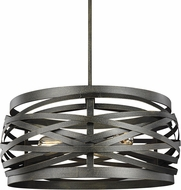 Seagull 6528603-802 Cowen Contemporary Obsidian Mist Drum Pendant Lighting