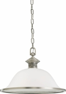 Seagull 65350EN-965 Laurel Leaf Antique Brushed Nickel LED Pendant Lighting Fixture