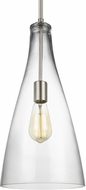 Seagull 6537001-962 Arilda Contemporary Brushed Nickel Mini Hanging Lamp