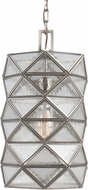 Seagull 6541401-965 Harambee Modern Antique Brushed Nickel Small Drop Ceiling Light Fixture