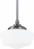 Seagull 65436-962 Academy Brushed Nickel Small Pendant Lamp