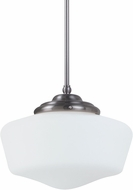 Seagull 6543791S-962 Academy Brushed Nickel LED Medium Hanging Light Fixture