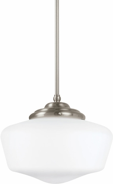 Seagull 65437EN-962 Academy Brushed Nickel LED Mini Drop Ceiling Light Fixture