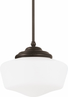 Seagull 65438-782 Academy Heirloom Bronze Large Drop Lighting Fixture