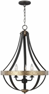 Seagull 6551103-792 Davlin Smith Steel Foyer Lighting Fixture