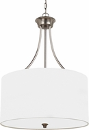 Seagull 65953-962 Stirling Brushed Nickel Drum Pendant Light Fixture