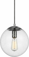 Seagull 6601801-04 Hanging Globe Modern Antique Brass Mini Hanging Light Fixture