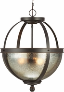 Seagull 6610403-715 Sfera Contemporary Autumn Bronze Drop Ceiling Light Fixture