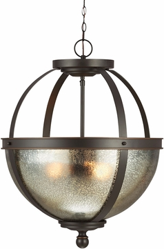 Seagull 6610403EN-715 Sfera Contemporary Autumn Bronze LED Pendant Lighting