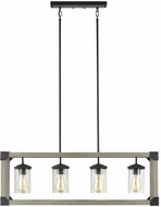 Seagull 6613304-803 Dunning Contemporary Driftwood Gray Island Lighting