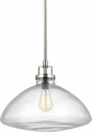 Seagull 6614501-962 Belton Contemporary Brushed Nickel Pendant Lighting Fixture