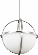 Seagull 6624603-962 Alturas Contemporary Brushed Nickel Pendant Light Fixture