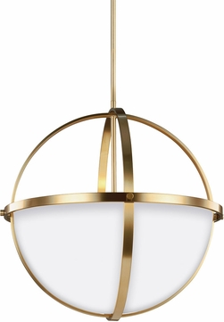 Seagull 6624603EN-848 Alturas Contemporary Satin Bronze LED Pendant Hanging Light