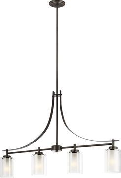 Seagull 6637304-782 Elmwood Park Contemporary Heirloom Bronze Kitchen Island Lighting