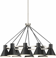 Seagull 6641308EN3-962 Towner Contemporary Brushed Nickel LED Chandelier Light