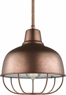 Seagull 6646501EN3-44 Jeyne Modern Weathered Copper LED Mini Drop Lighting