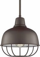 Seagull 6646501EN3-782 Jeyne Contemporary Heirloom Bronze LED Mini Drop Ceiling Lighting