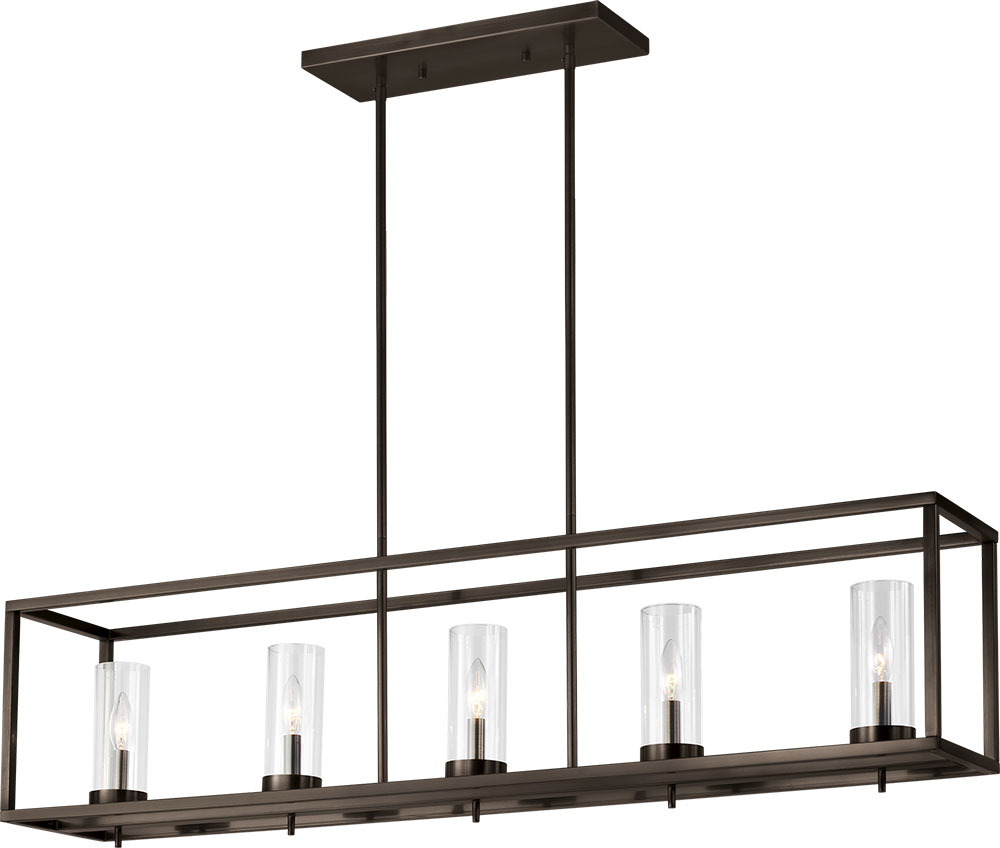 Seagull 6690305 778 Zire Modern Brushed Oil Rubbed Bronze Kitchen Island Light Fixture