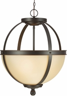 Seagull 6690403-715 Sfera Contemporary Autumn Bronze Drop Ceiling Light Fixture