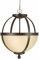 Seagull 6690403EN-715 Sfera Contemporary Autumn Bronze LED Pendant Light Fixture