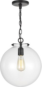 Seagull 6692101EN7-112 Kate Modern Midnight Black LED Mini Pendant Light Fixture