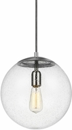 Seagull 6701801-04 Hanging Globe Modern Satin Aluminum Mini Ceiling Light Pendant