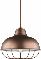Seagull 6746501EN3-44 Jeyne Contemporary Weathered Copper LED Ceiling Pendant Light