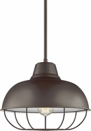 Seagull 6746501EN3-782 Jeyne Modern Heirloom Bronze LED Drop Ceiling Light Fixture