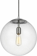 Seagull 6801801-04 Hanging Globe Contemporary Satin Aluminum Drop Lighting Fixture