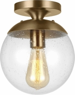 Seagull 7501801-848 Leo - Hanging Globe Contemporary Satin Brass Ceiling Lighting