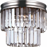 Seagull 7514002-965 Carondelet Antique Brushed Nickel Flush Lighting