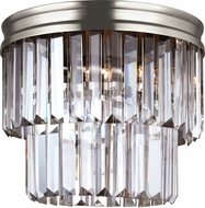 Seagull 7514002EN-965 Carondelet Antique Brushed Nickel LED Flush Mount Lighting