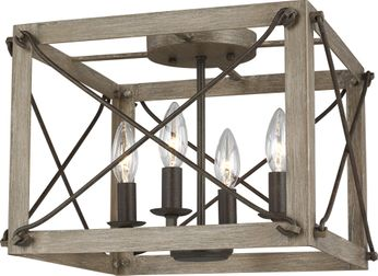 Seagull 7526304EN-872 Thornwood Washed Pine LED Ceiling Lighting Fixture