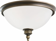 Seagull 75350EN-708 Laurel Leaf Estate Bronze LED Flush Mount Lighting Fixture