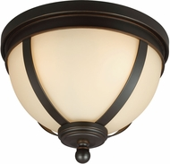 Seagull 7590403-715 Sfera Modern Autumn Bronze Flush Mount Light Fixture