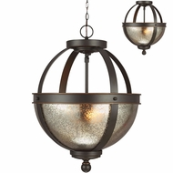 Seagull 7710402EN-715 Sfera Modern Autumn Bronze LED Pendant Light / Ceiling Light