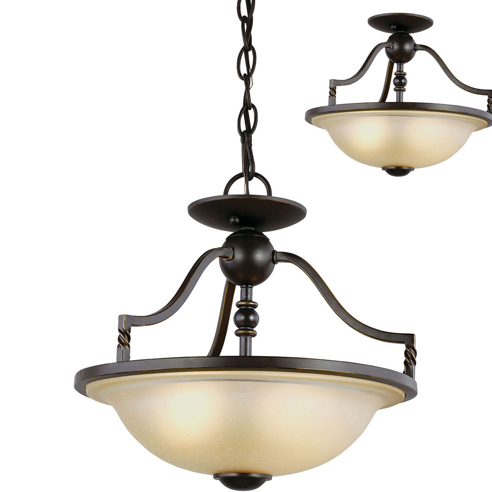 Seagull 7710602en 191 Trempealeau Roman Bronze Led Lighting Pendant Ceiling Light Fixture