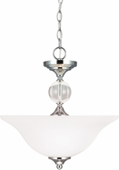 Seagull 7713402-05 Englehorn Chrome / Optic Crystal Hanging Lamp / Flush Mount Lighting