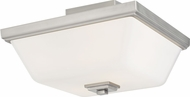 Seagull 7713702-962 Ellis Harper Modern Brushed Nickel Flush Mount Ceiling Light Fixture