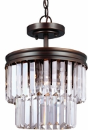 Seagull 7714002-710 Carondelet Burnt Sienna Pendant Light Fixture / Flush Mount Light Fixture