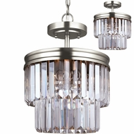 Seagull 7714002EN-965 Carondelet Antique Brushed Nickel LED Hanging Light / Flush Lighting