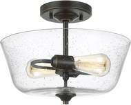 Seagull 7714502-782 Belton Modern Heirloom Bronze Flush Mount Lighting