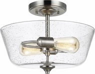 Seagull 7714502-962 Belton Contemporary Brushed Nickel Overhead Lighting