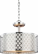 Seagull 7715502-962 Jourdanton Contemporary Brushed Nickel Pendant Hanging Light / Home Ceiling Lighting